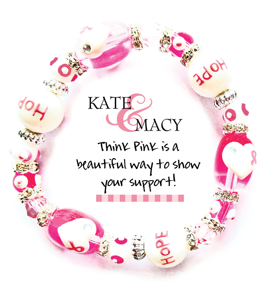 Think Pink Braclet-Jewelry, Kate Macy