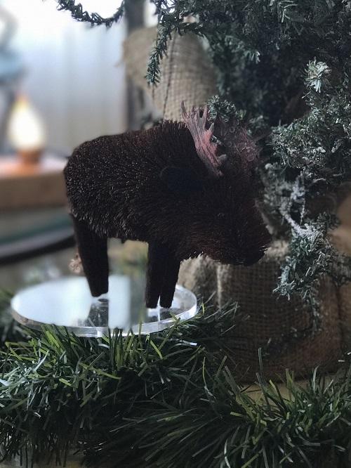 Moose Brush Animal Ornament-moose, brush animal
