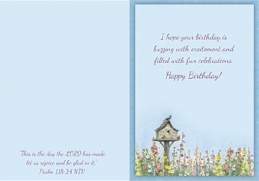 Birthday Card, Birdhouse and Hive-birthday, card, birdhouse, hive