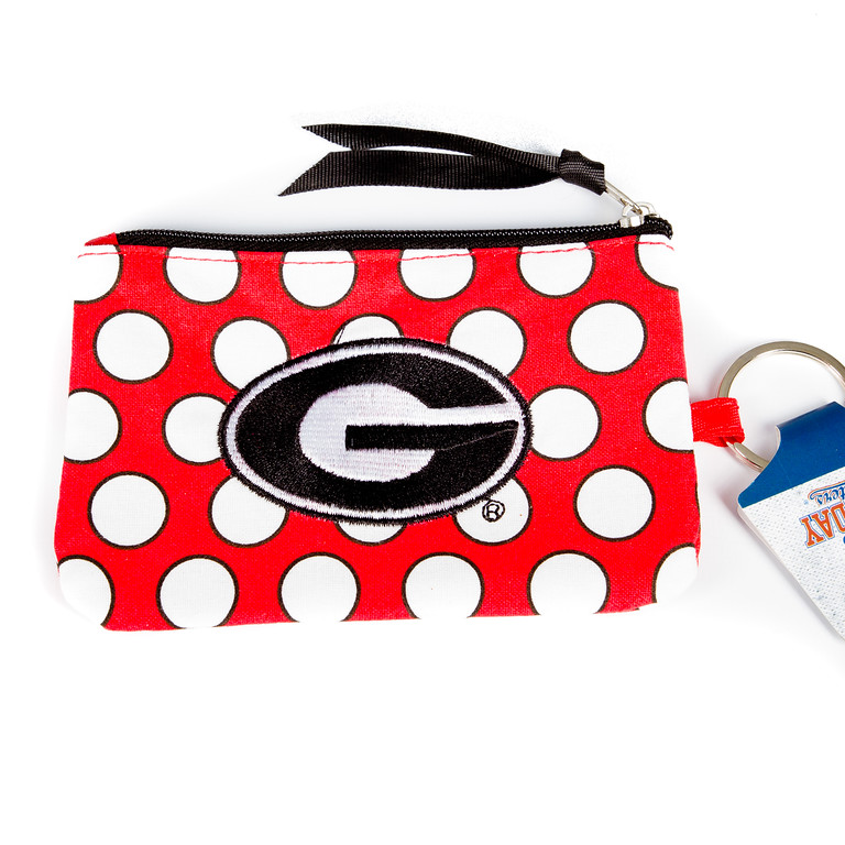 Clutch with Key Fob - Georgia Bulldogs-georgia bulldogs, clutch, clutch bag, clutch purse, bag, purse, football, jacksonville florida