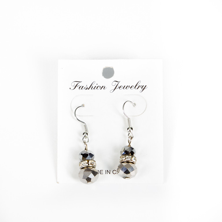 Sparkly Faceted Bead Earrings-earrings, sparkly earrings, jewelry, jacksonville florida,