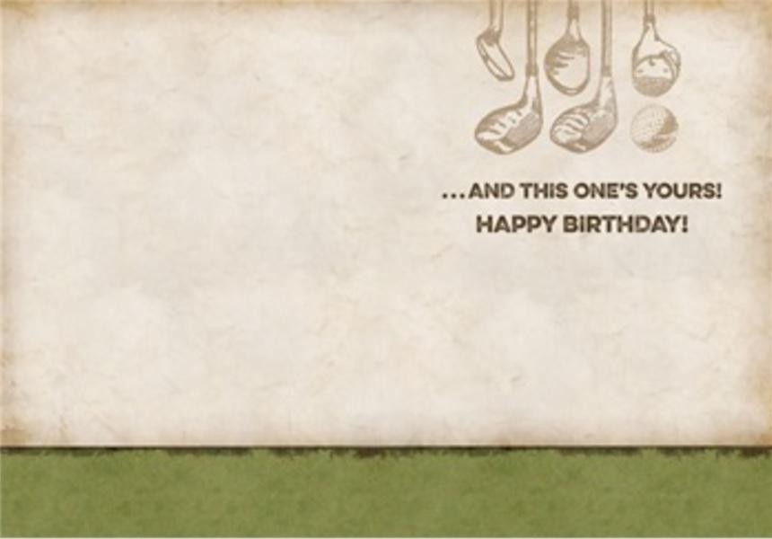 Birthday Card, Golf-birthday, card, golf
