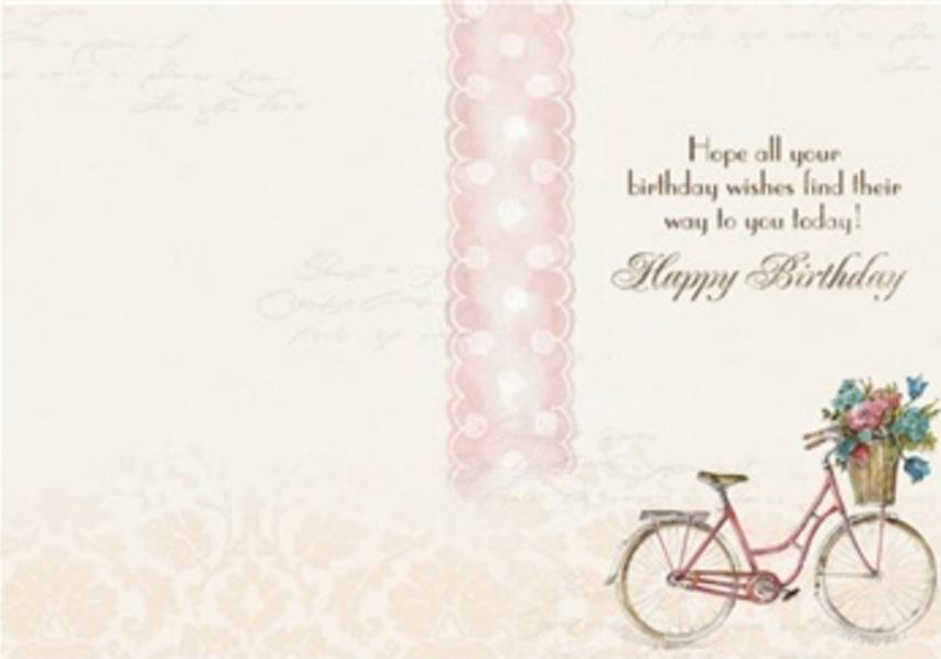 Birthday Card, Paris Bicycle-birthday, card, paris, bicycle