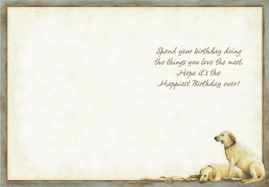 Birthday Card, Patiently Waiting-birthday, card, patiently, waiting, dog, puppy