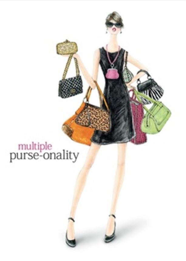 Birthday Card, Purse-onality-birthday, card, purse