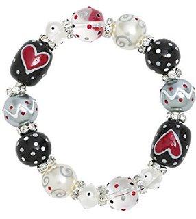 Red Hearts Bracelet-bracelet, Kate and Macy, valentine's day, love, hearts