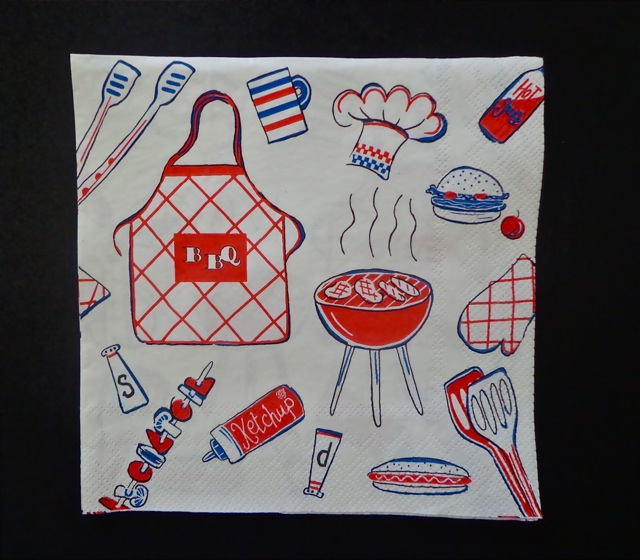 Luncheon Napkin, White Barbecue-napkins, party supplies, recycled paper napkins, eco-friendly