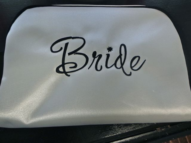 Bride White Travel Bag-travel bag, cosmetics, bride, bridal party, bridal gift