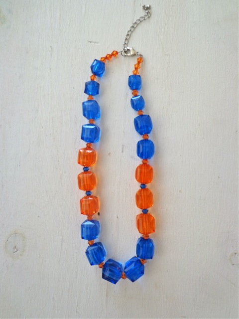 Gators Necklace-Collegiate, Necklace, Gators, College, Jewelry
