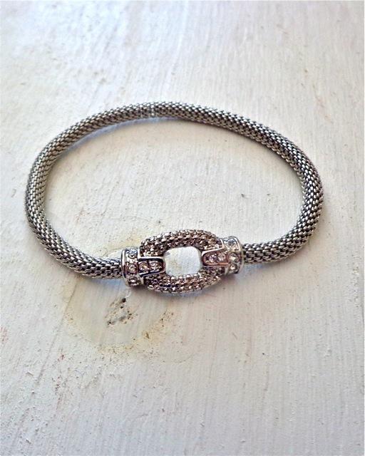 Silver Ring Mesh Bracelet-Bracelet, Jewelry