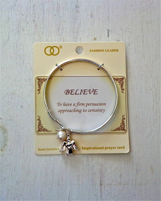 Believe Bracelet-Bracelet, Angel, Pearl, Jewelry, Inspirational