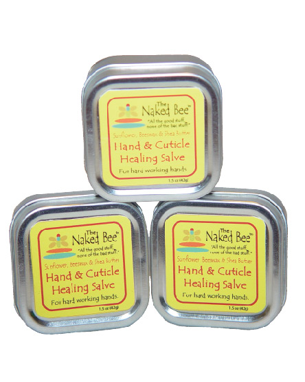 Hand & Cuticle Healing Salve-dry skin, salve, organic, The Naked Bee