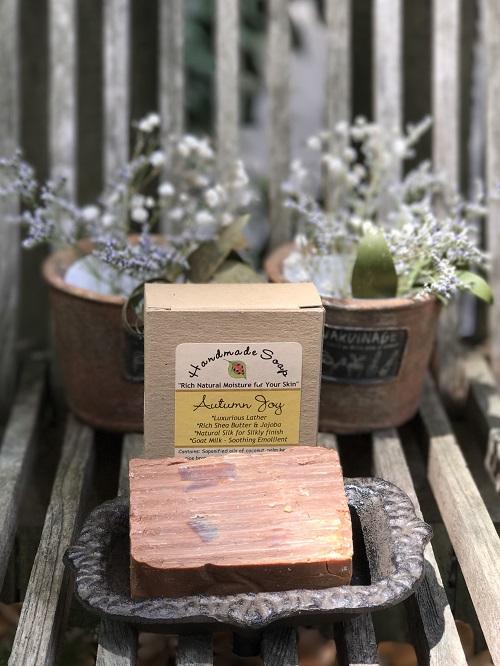 Handmade Soap - Autumn Joy-cinnamon, vanilla, autumn, handmade soap, natural, Ladybug Blessings