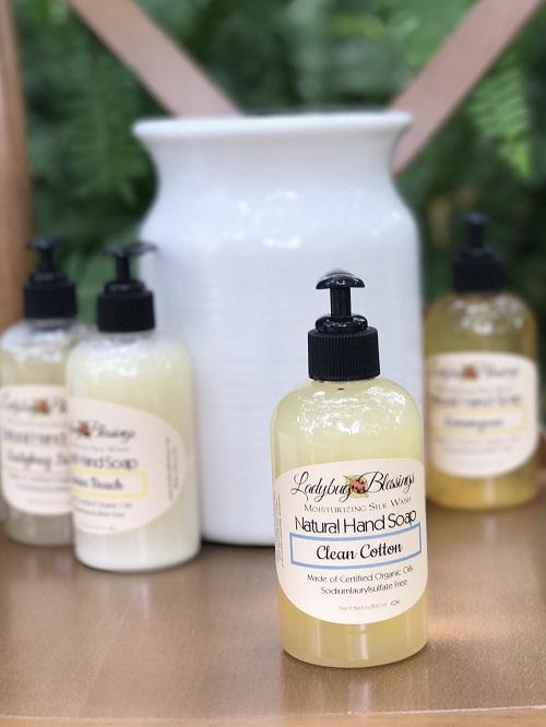 Handmade Liquid Soap - Clean Cotton-handmade, soap, liquid soap, ladybug blessings