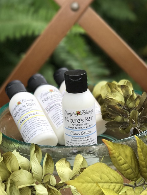 Hand & Body Lotion - Clean Cotton, 2.25ml-hand and body lotion, natural, ladybug blessings