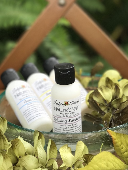Hand & Body Lotion - Relaxing Lavender, 2.25ml-hand and body lotion, relaxing lavender, ladybug blessings