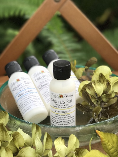Hand & Body Lotion - Lemongrass, 2.25ml-lemongrass, hand and body lotion, ladybug blessings
