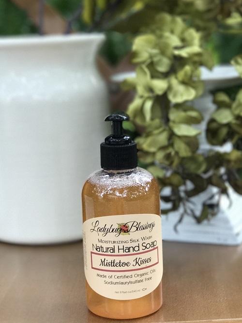 Handmade Liquid Soap - Mistletoe Kisses-handmade, soap, liquid soap, ladybug blessings