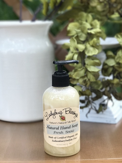 Handmade Liquid Soap - Fresh Snow-soap, liquid soap, handmade, ladybug blessings