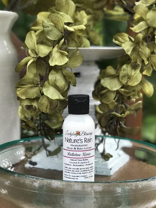 Hand & Body Lotion - Mistletoe Kisses, 2.25ml-natural, handmade, hand and body lotion, mistletoe kisses, christmas, ladybug blessings