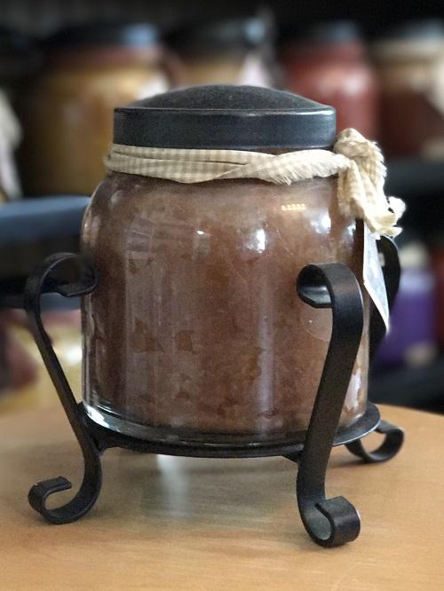 Black Candle Jar Holder-
