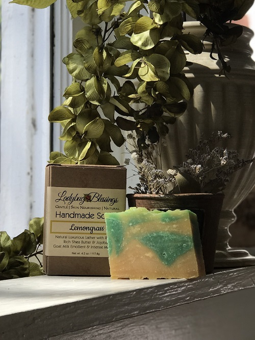 Handmade Soap - Lemongrass-lemongrass, natural soap, handmade soap, Ladybug Blessings