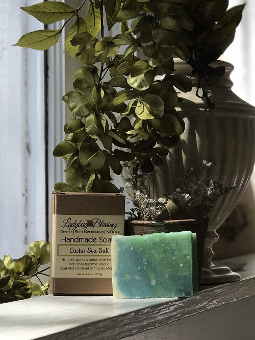 Handmade Soap - Cactus Sea Salt-handmade, soap, cactus sea salt