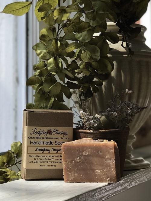 Handmade Soap - Ladybug Sugar-handmade soap, natural soap, goat milk, Ladybug Blessings,
