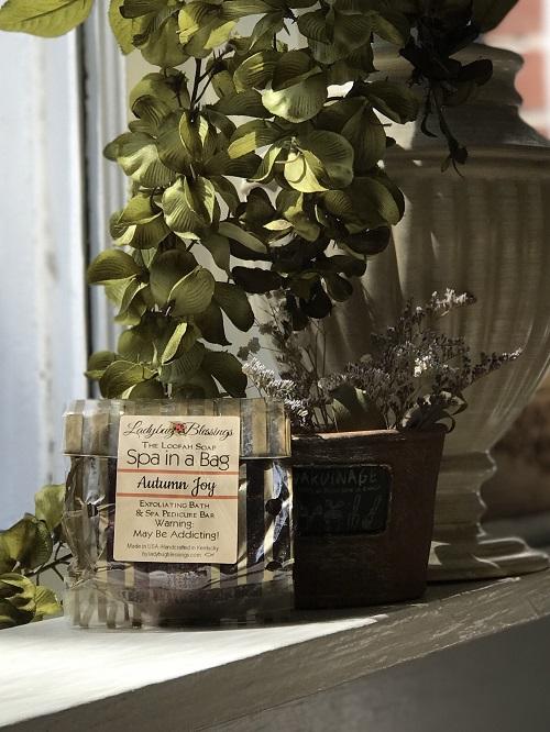 Handmade Loofah Soap - Autumn Joy-handmade, loofah, soap, autumn joy