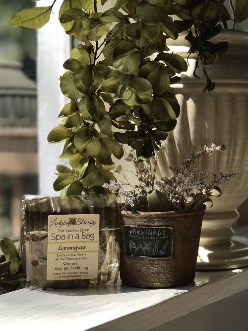 Handmade Loofah Soap - Lemongrass-handmade, loofah, soap, lemongrass