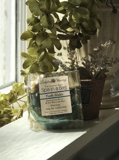 Handmade Loofah Soap - Fresh Water-handmade, loofah, soap, fresh water