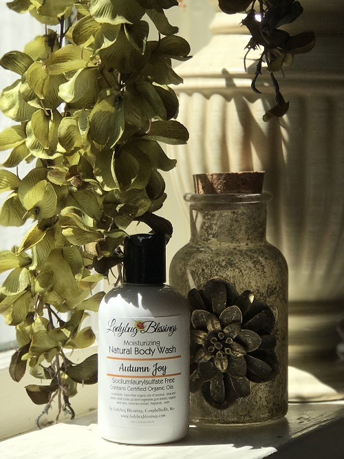 Natural Body Wash - Autumn Joy, 4 oz.-natural body wash, autumn joy, organic, Ladybug Blessings