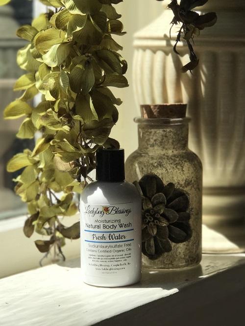 Natural Body Wash - Fresh Water, 4 oz.-natural body wash, fresh water