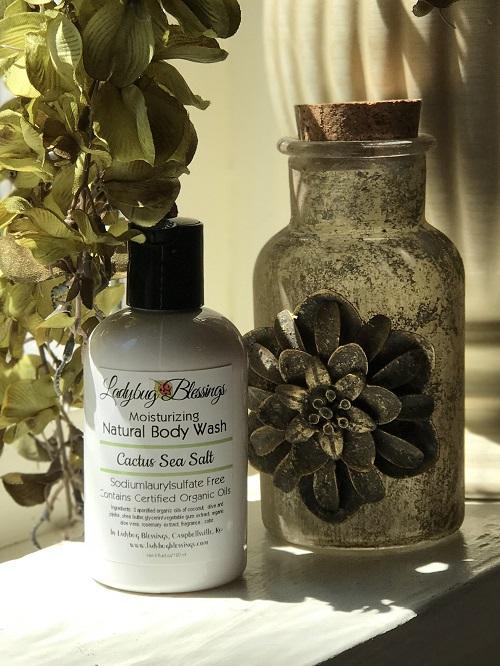 Natural Body Wash - Cactus Sea Salt, 4 oz.-natural body wash, cactus sea salt