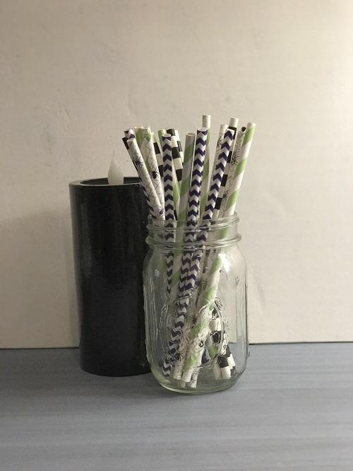 Halloween Spider Mix Paper Straws-halloween, spider, paper straws