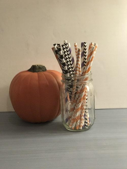 Halloween Mix Paper Straws-halloween mix, paper straws