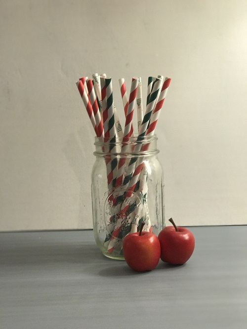 Christmas Mix Paper Straws-paper straws, christmas