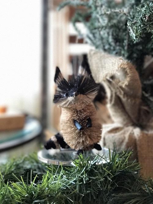 Raccoon Brush Animal Ornament-raccoon, brush animal