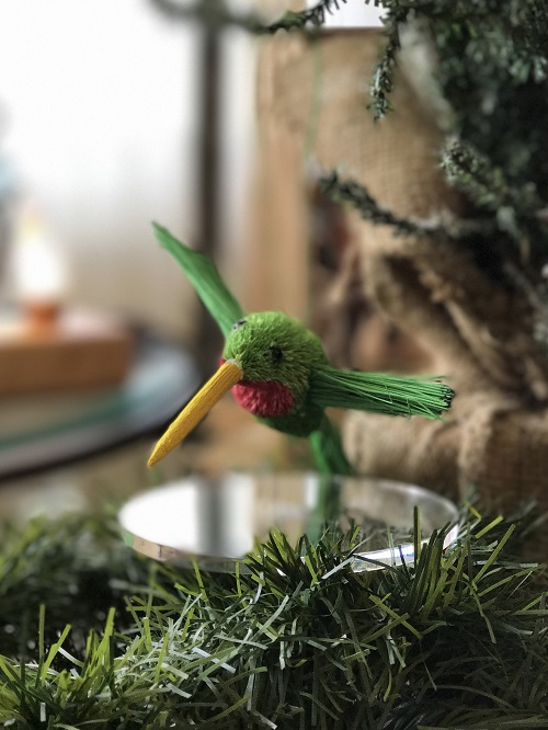 Hummingbird Brush Animal Ornament-hummingbird, brush animal