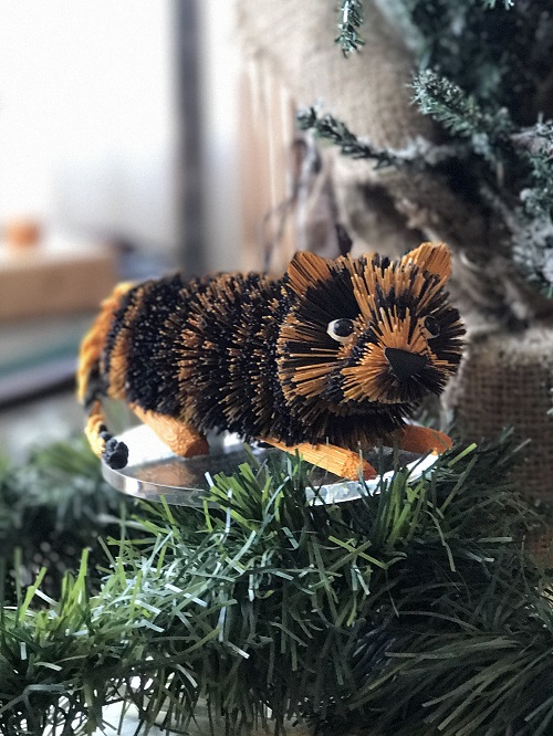 Tiger Brush Animal Ornament-tiger, brush animal
