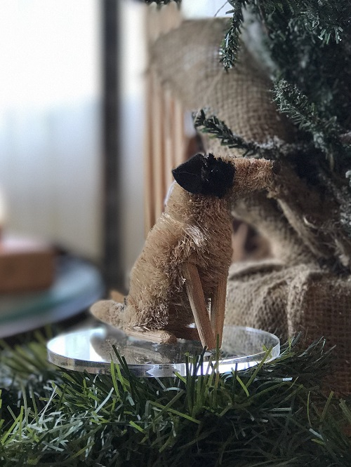 Terrier Brush Animal Ornament-terrier, dog, brush animal