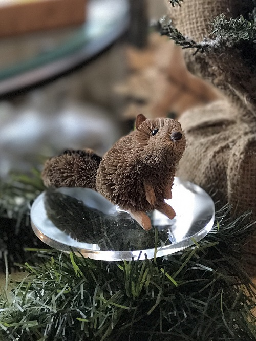 Chipmunk Brush Animal Ornament-chipmunk, brush animal