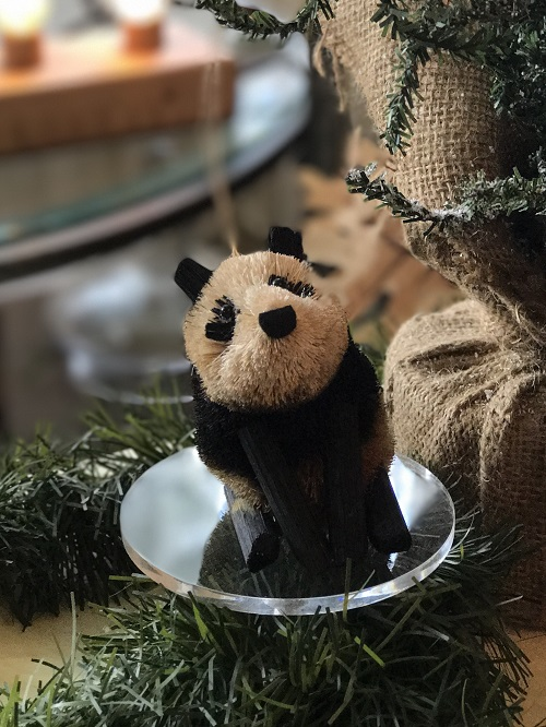 Panda Brush Animal Ornament-panda, brush animal