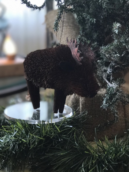 Moose Brush Animal Ornament-moose, brush animal