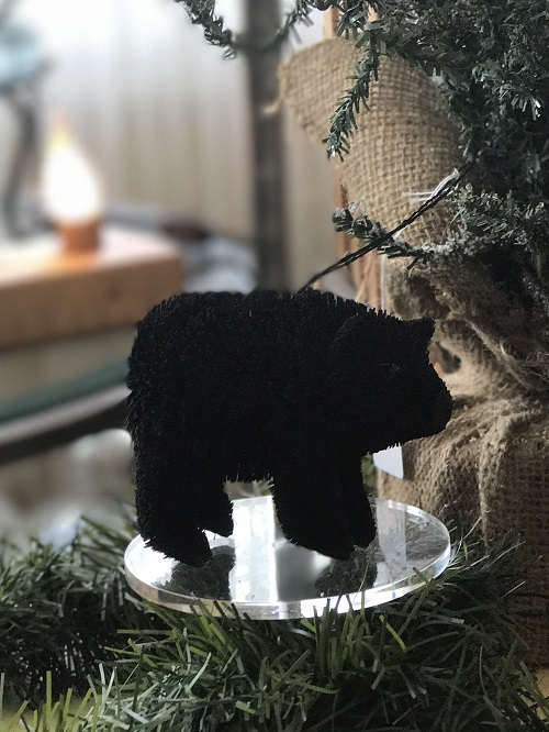 Black Bear Brush Animal Ornament-bear, brush ornament