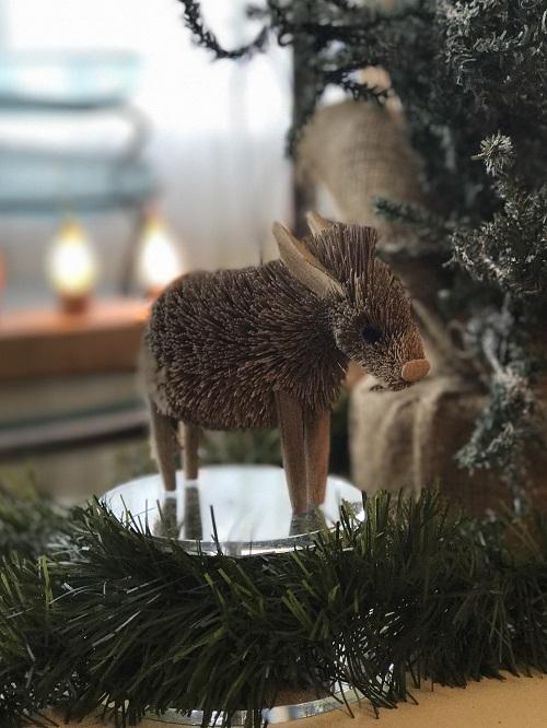 Donkey Brush Animal Ornament-donkey, brush animal