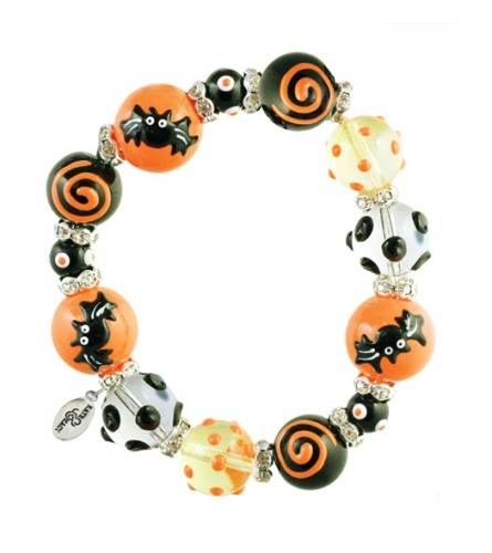 Gone Batty Bracelet-Halloween, bracelet, Kate & Macy,handpainted beads
