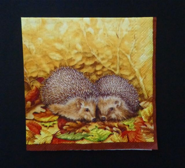Beverage Napkins, Little Hedgehogs-beverage napkins, autumn, party supplies