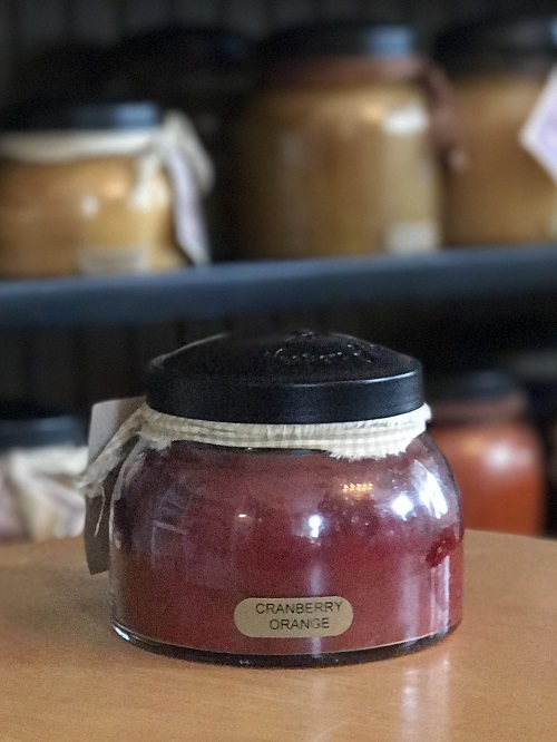 A Cheerful Giver Cranberry Orange Mama Jar Candle-cinnamon candle, cloves, jar candle, a cheerful giver, jacksonville candles