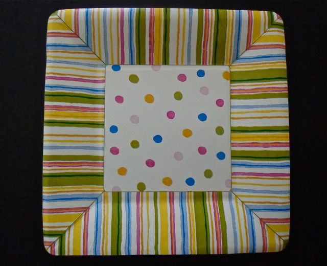 Smart Dots Dessert Plates-paper plates, party supplies